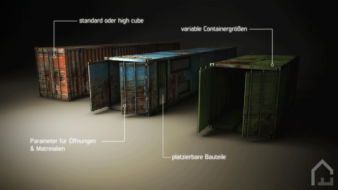 parametrischer Container für die Verwendung in Revit